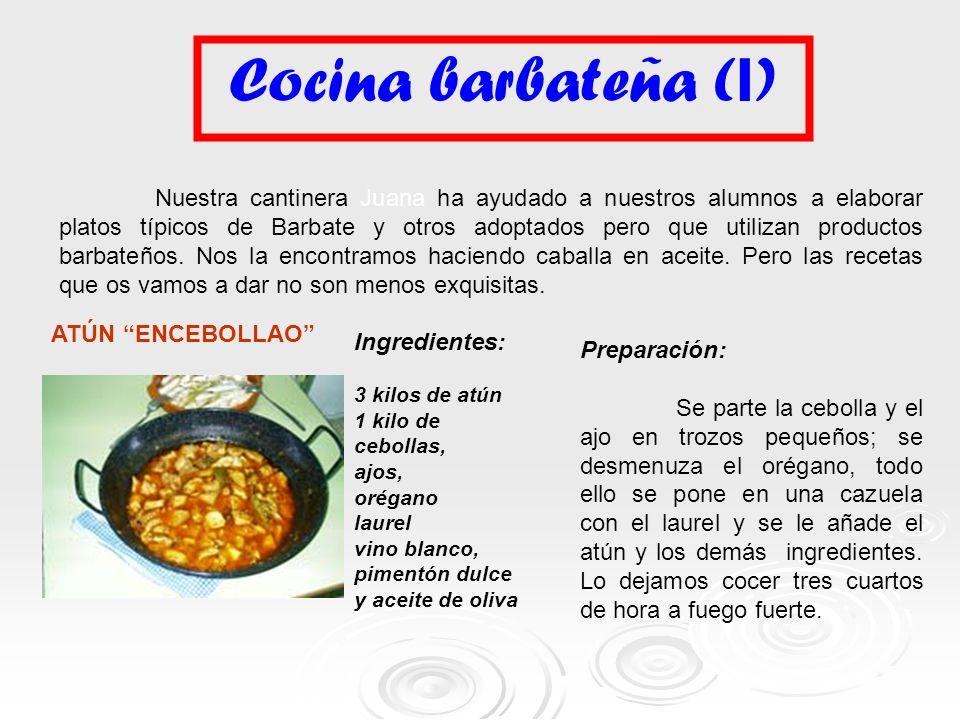 Cocina barbateña (I)