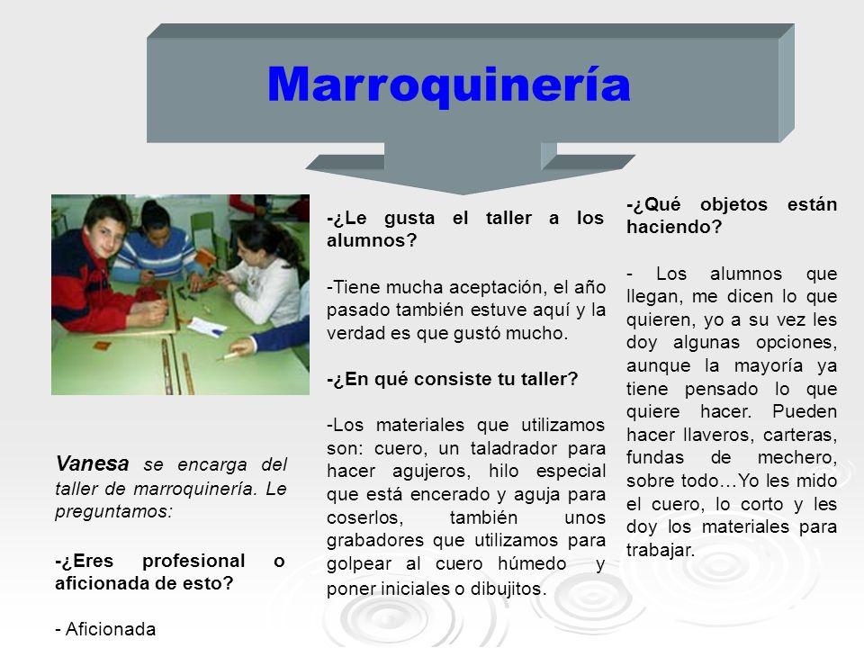 Marroquinería -¿Qué objetos están haciendo