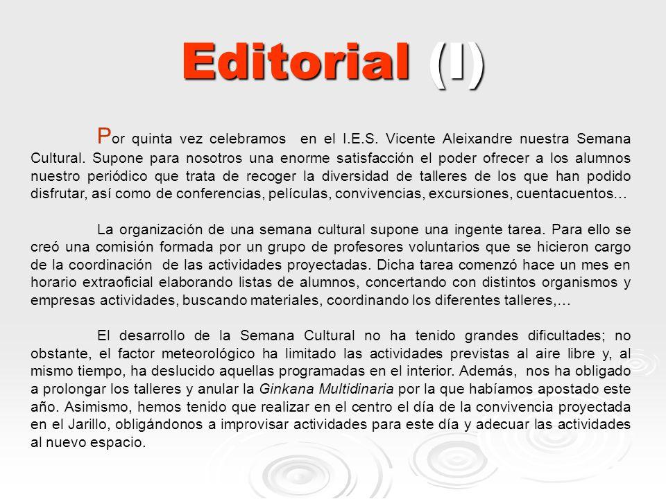 Editorial (I)