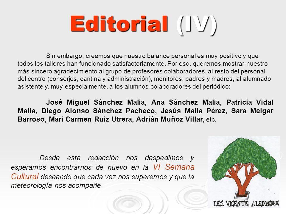 Editorial (IV)