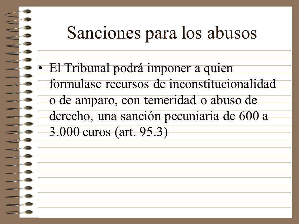 Sanciones para los abusos