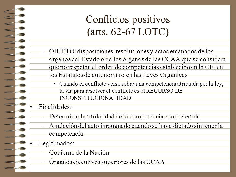 Conflictos positivos (arts. 62-67 LOTC)