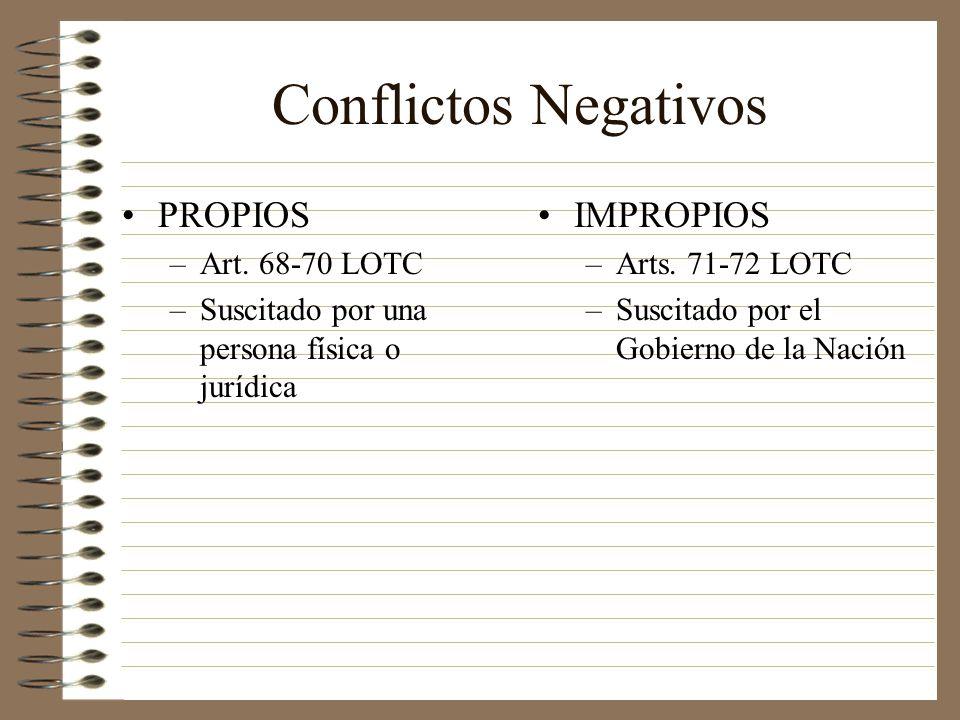 Conflictos Negativos PROPIOS IMPROPIOS Art. 68-70 LOTC