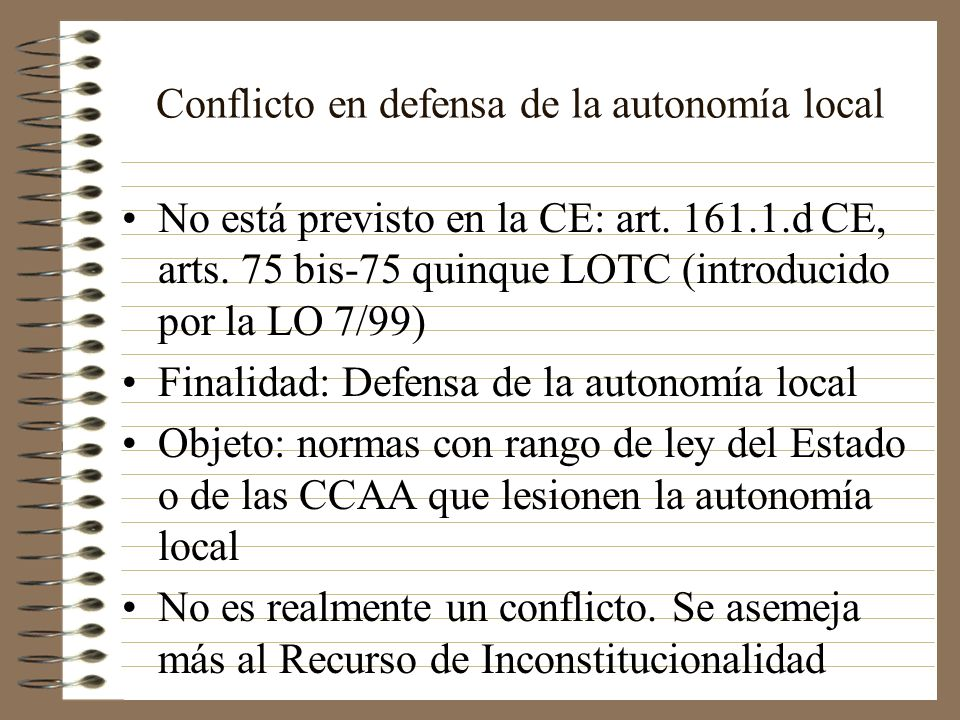 Conflicto en defensa de la autonomía local
