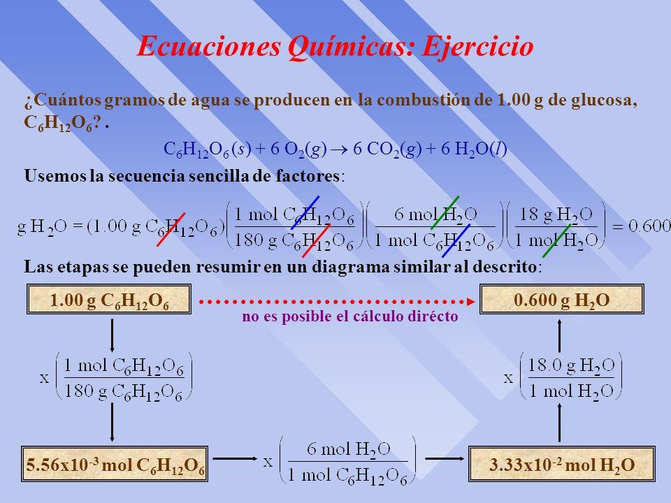 Ecuaciones Químicas: Ejercicio