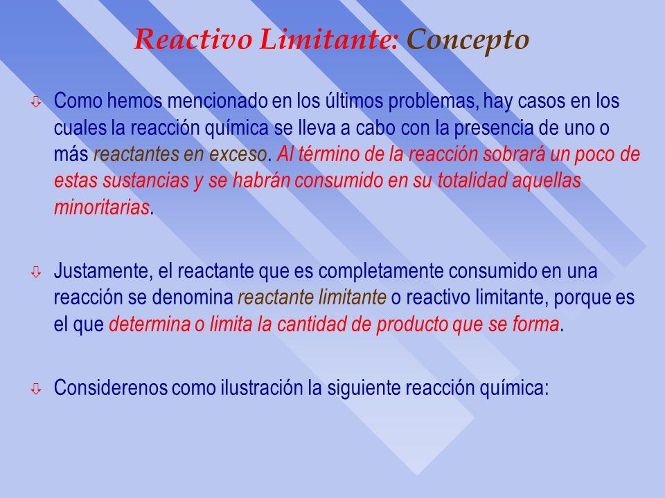 Reactivo Limitante: Concepto