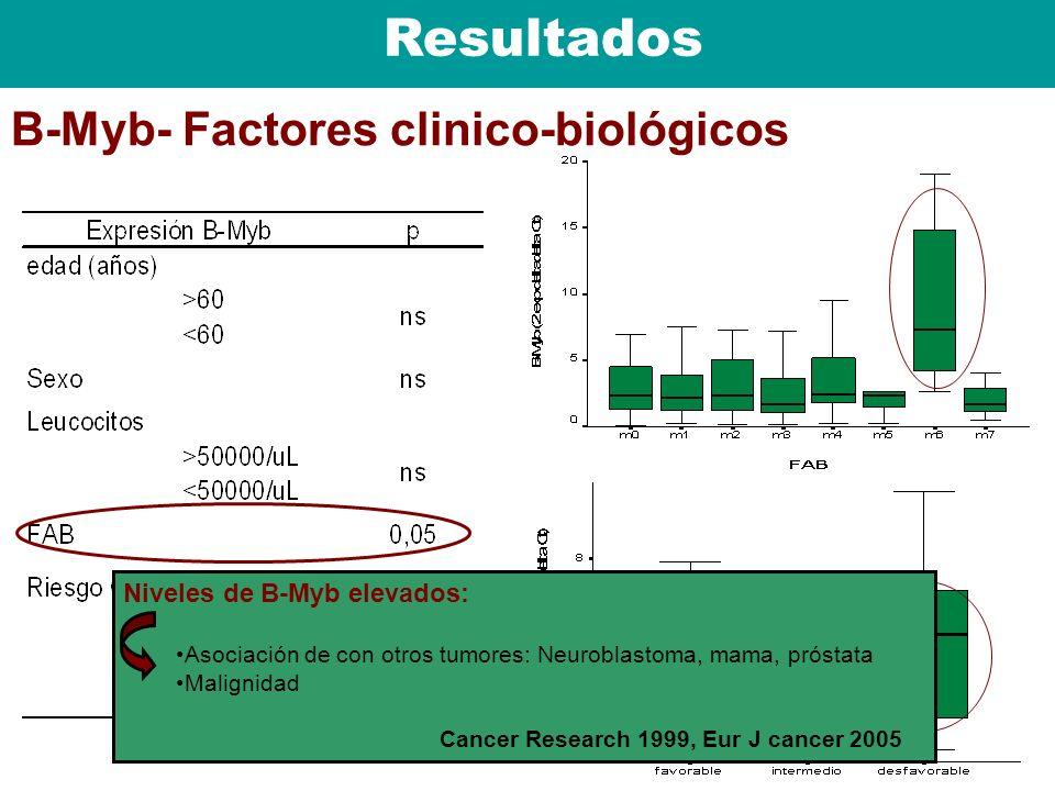 Resultados B-Myb- Factores clinico-biológicos
