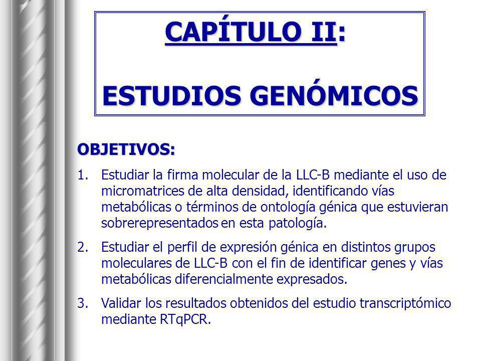 CAPÍTULO II: ESTUDIOS GENÓMICOS