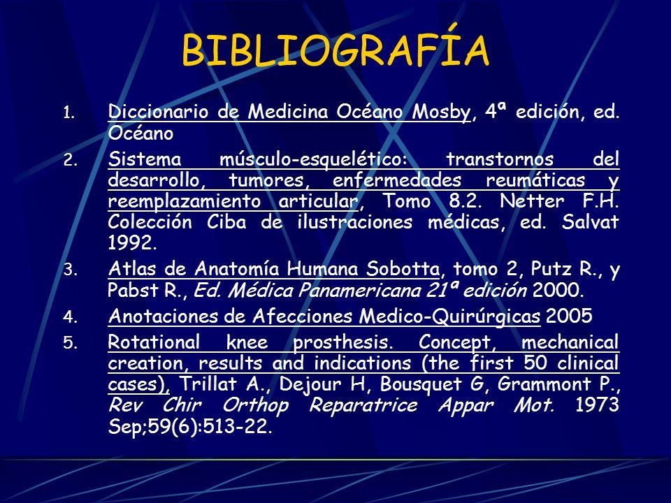 BIBLIOGRAFÍA Diccionario de Medicina Océano Mosby, 4ª edición, ed. Océano.