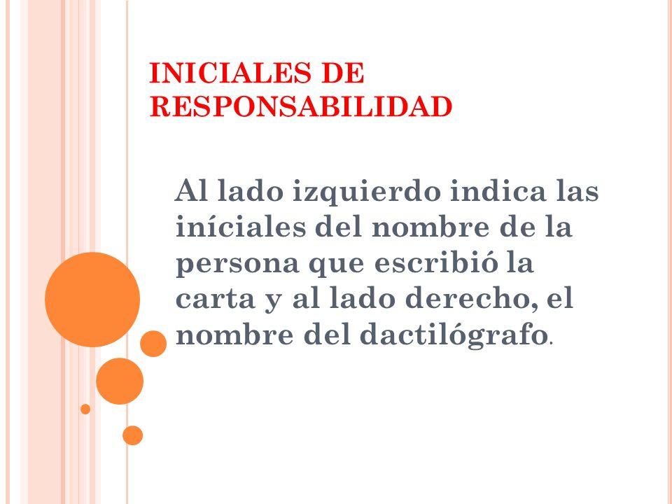 INICIALES DE RESPONSABILIDAD