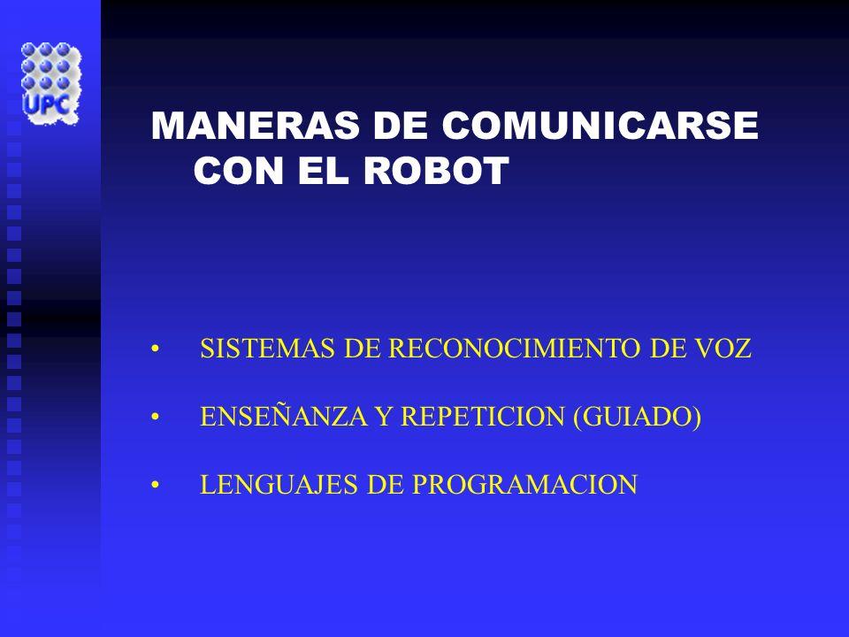 MANERAS DE COMUNICARSE CON EL ROBOT