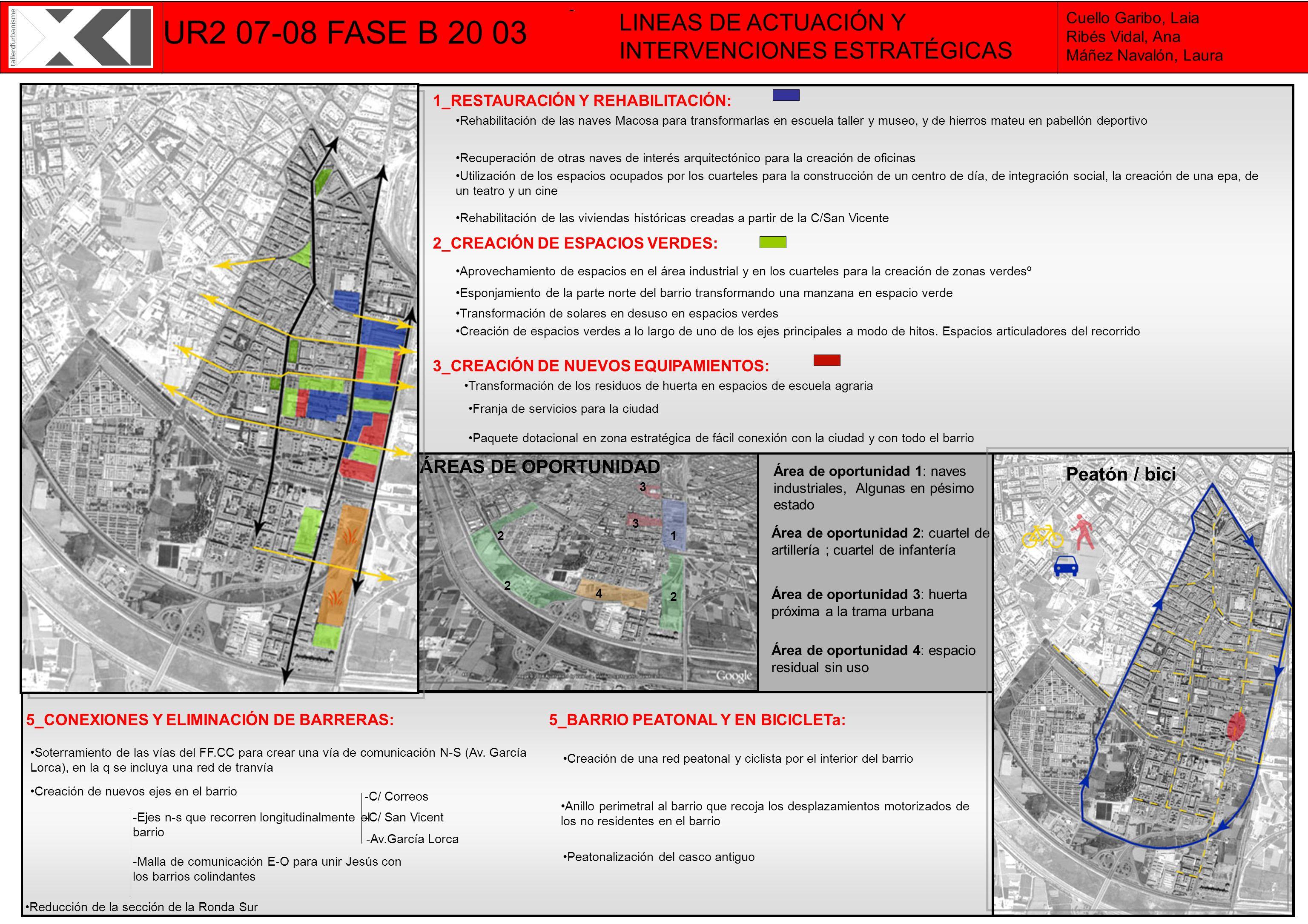 UR2 07-08 FASE B 20 03 LINEAS DE ACTUACIÓN Y