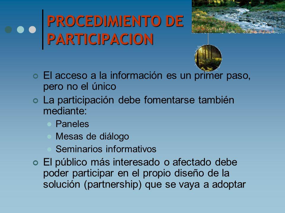 PROCEDIMIENTO DE PARTICIPACION