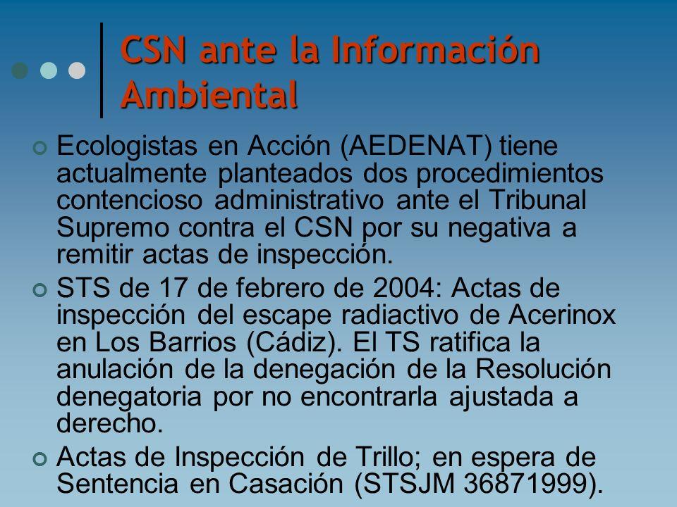 CSN ante la Información Ambiental