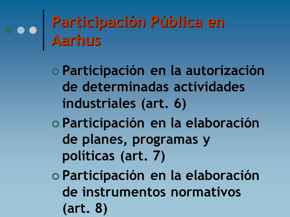 Participación Pública en Aarhus