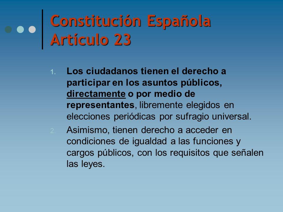 Constitución Española Artículo 23