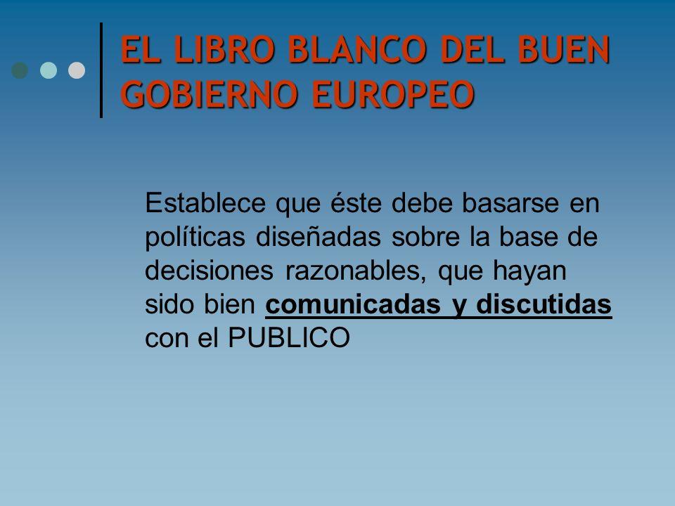 EL LIBRO BLANCO DEL BUEN GOBIERNO EUROPEO