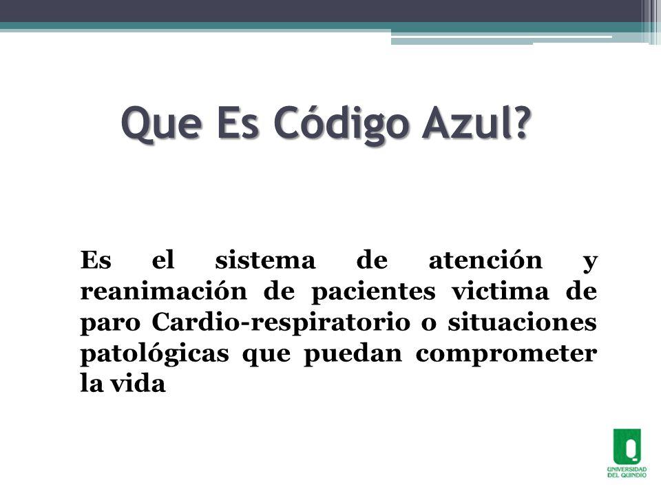 CÓDIGO AZUL INTRAHOSPITALARIO - ppt video online descargar