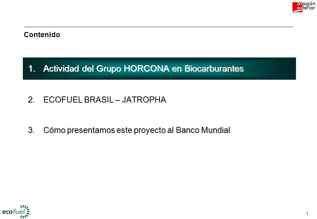Actividad del Grupo HORCONA en Biocarburantes