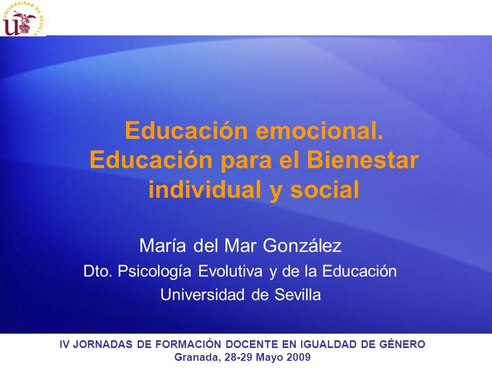 Educación emocional. Educación para el Bienestar individual y social
