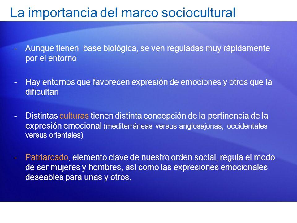 La importancia del marco sociocultural