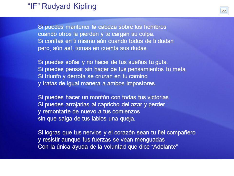IF Rudyard Kipling Si puedes mantener la cabeza sobre los hombros