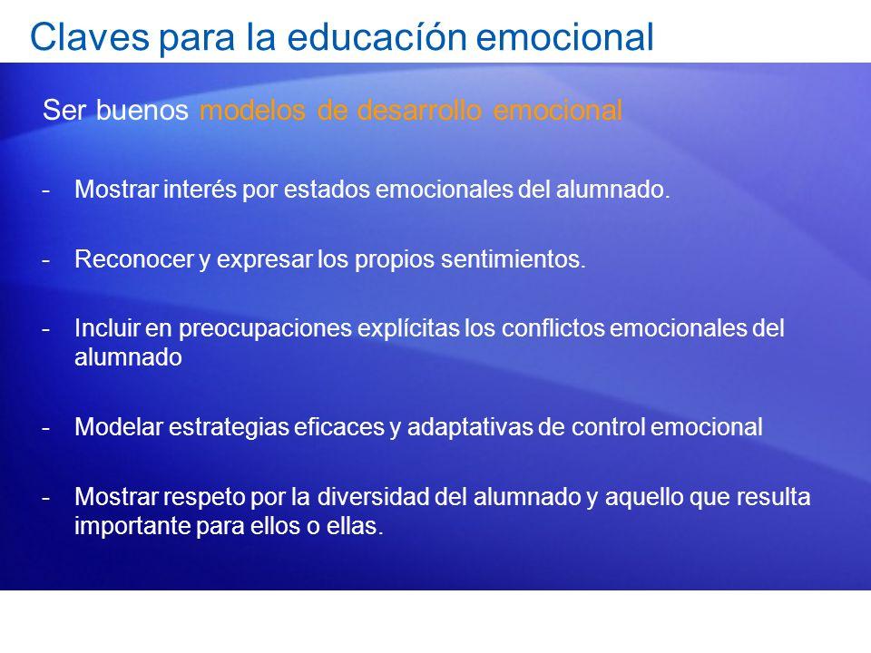 Claves para la educacíón emocional