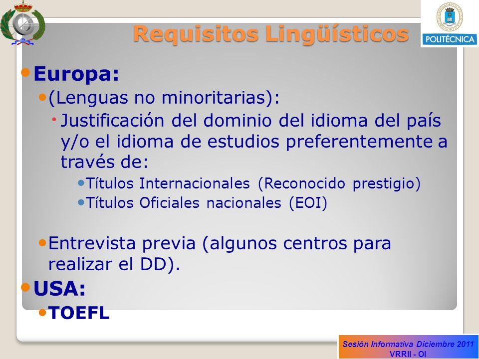 Requisitos Lingüísticos