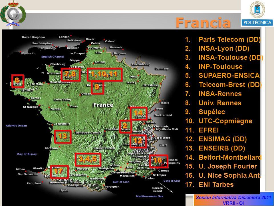 Francia Francia Paris Telecom (DD) INSA-Lyon (DD) INSA-Toulouse (DD)