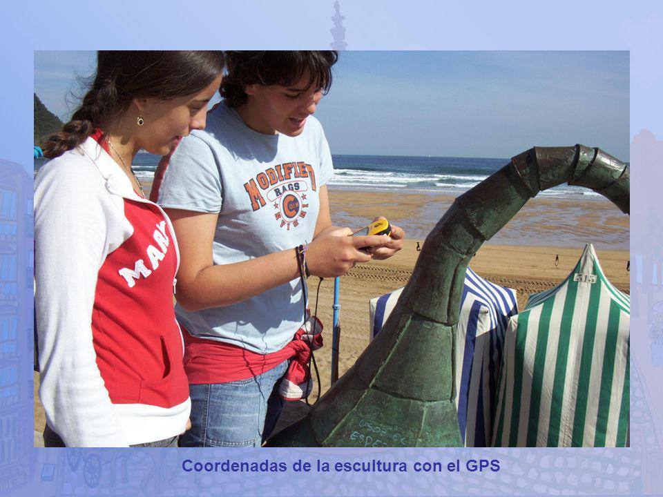 Coordenadas de la escultura con el GPS