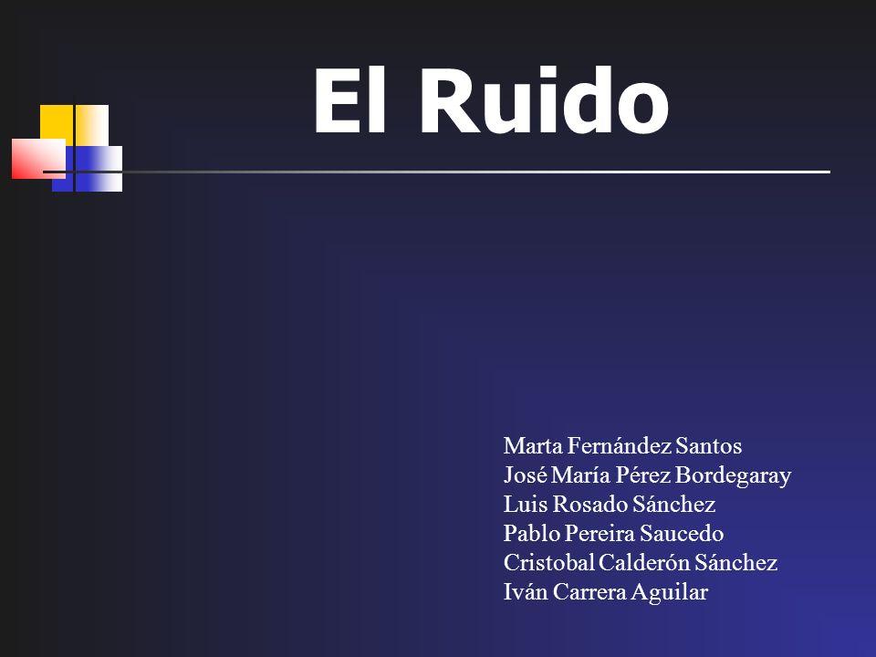 El Ruido Marta Fernández Santos José María Pérez Bordegaray
