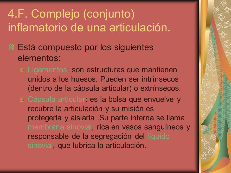 4.F. Complejo (conjunto) inflamatorio de una articulación.
