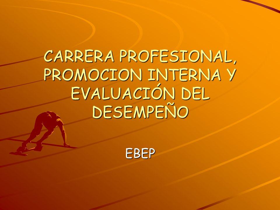 CARRERA PROFESIONAL, PROMOCION INTERNA Y EVALUACIÓN DEL DESEMPEÑO