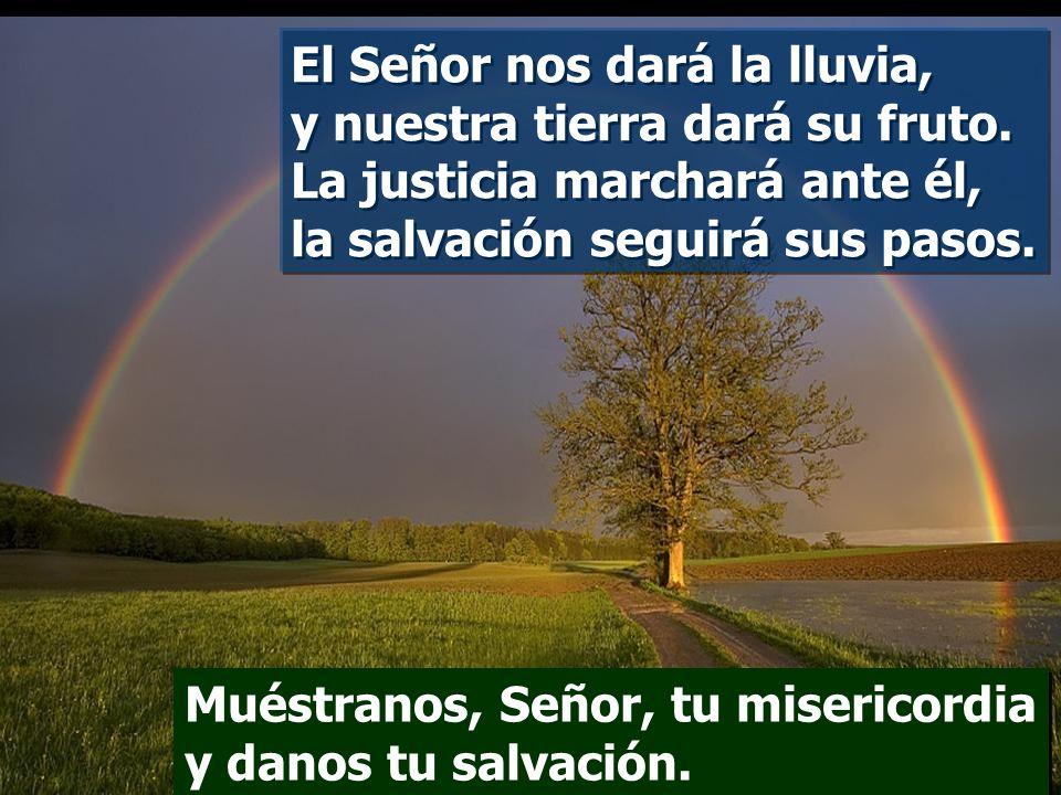 El Señor nos dará la lluvia, y nuestra tierra dará su fruto