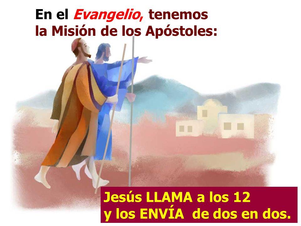 En el Evangelio, tenemos la Misión de los Apóstoles: