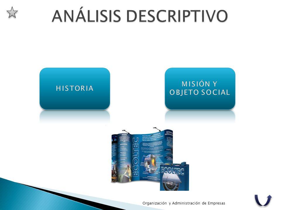 ANÁLISIS DESCRIPTIVO MISIÓN Y OBJETO SOCIAL HISTORIA