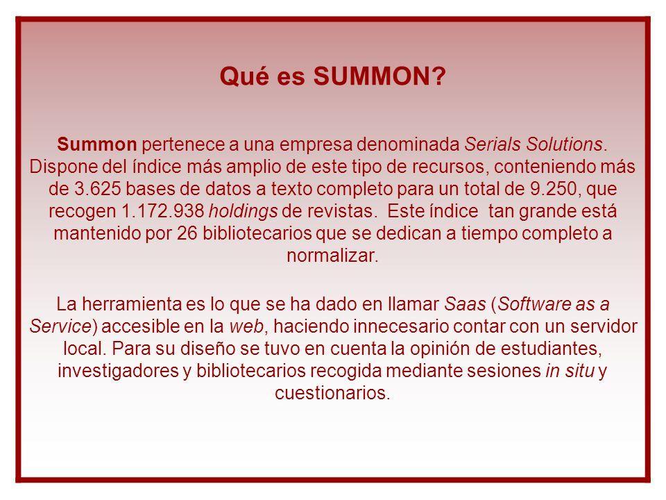 Qué es SUMMON