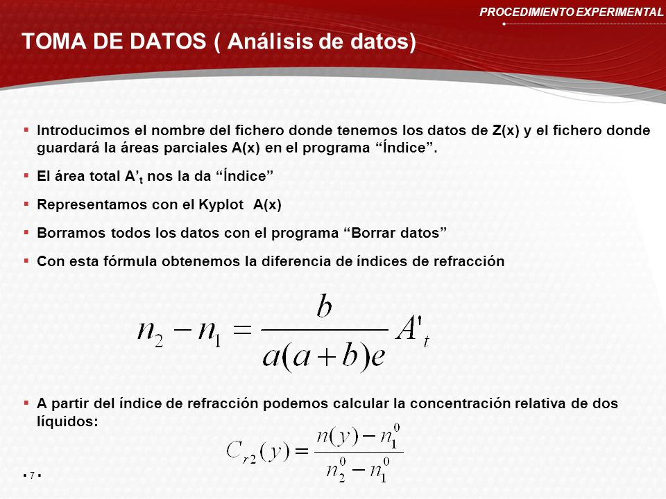 TOMA DE DATOS ( Análisis de datos)