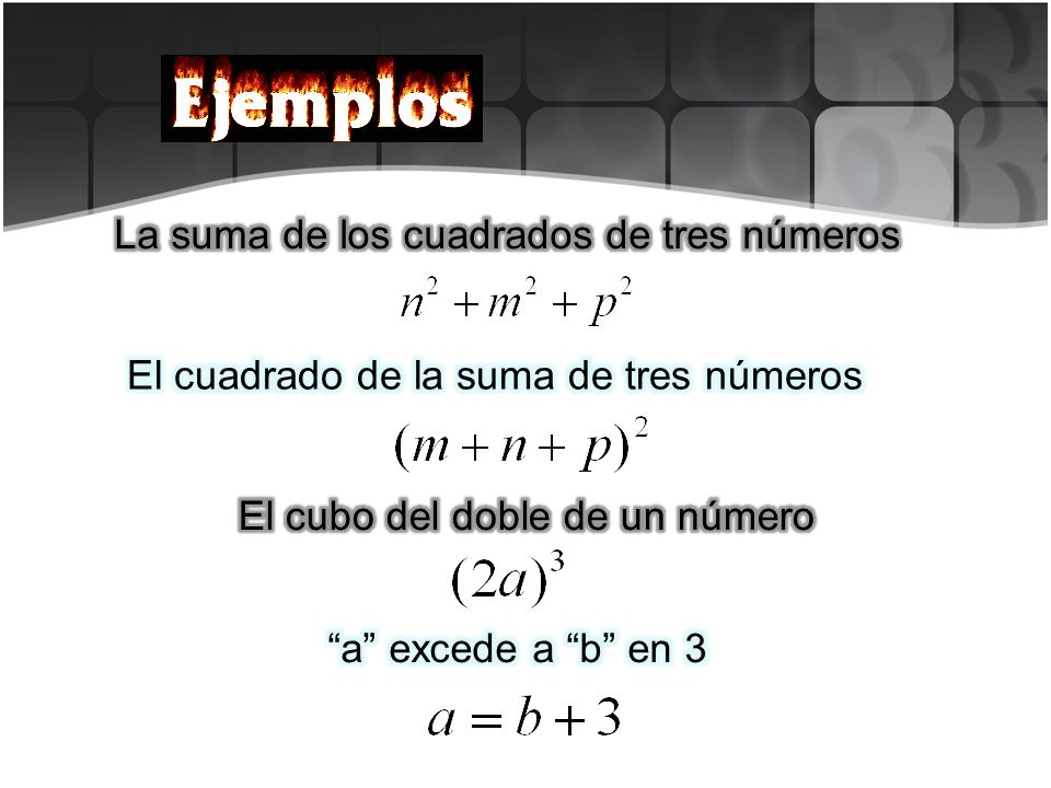 El cuadrado de la suma de tres números