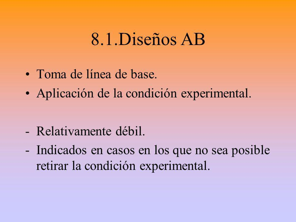 8.1.Diseños AB Toma de línea de base.
