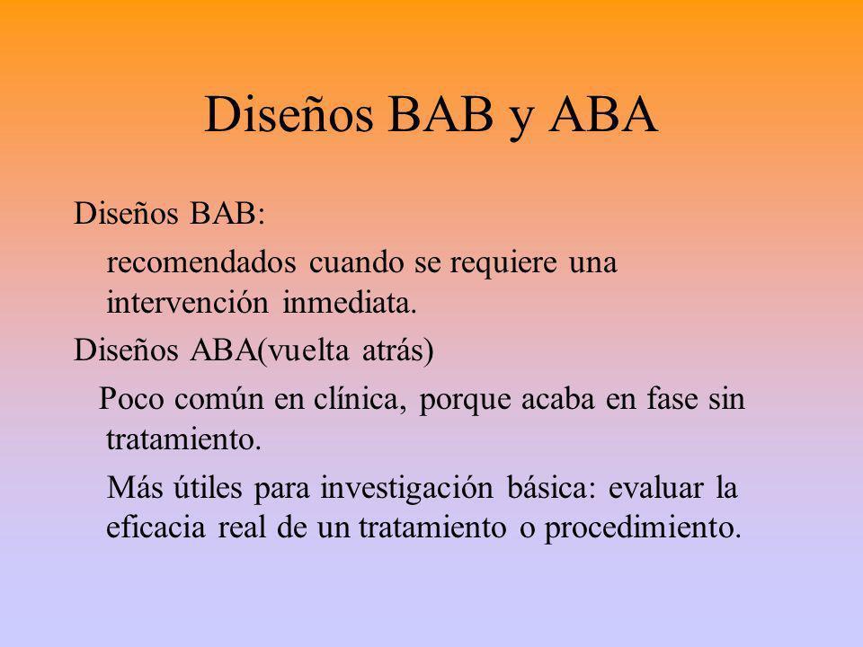 Diseños BAB y ABA Diseños BAB: