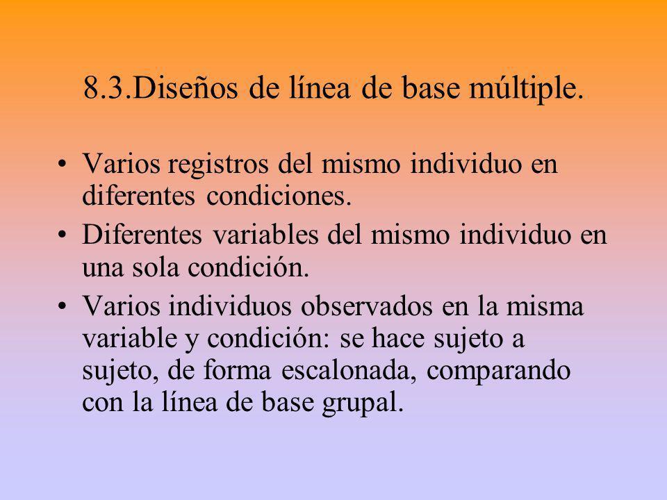 8.3.Diseños de línea de base múltiple.
