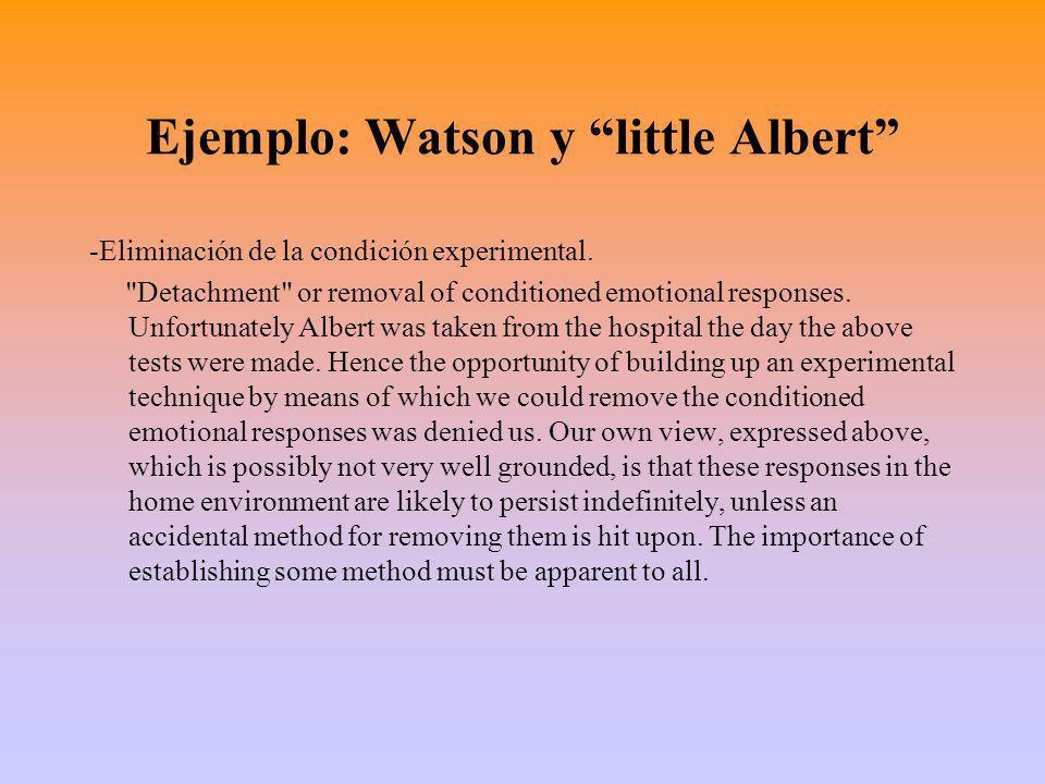 Ejemplo: Watson y little Albert