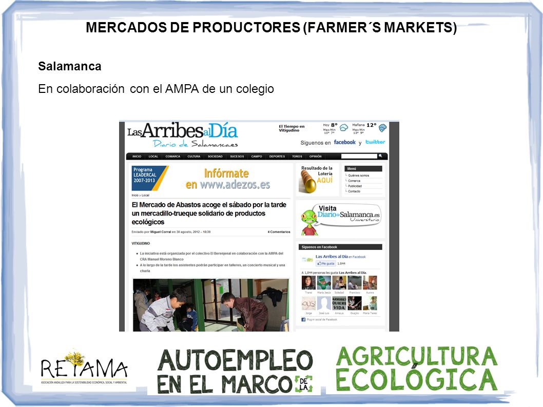 MERCADOS DE PRODUCTORES (FARMER´S MARKETS)