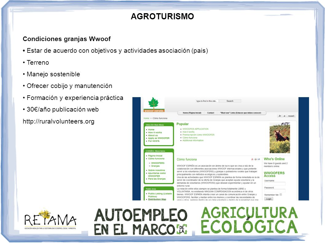 AGROTURISMO Condiciones granjas Wwoof