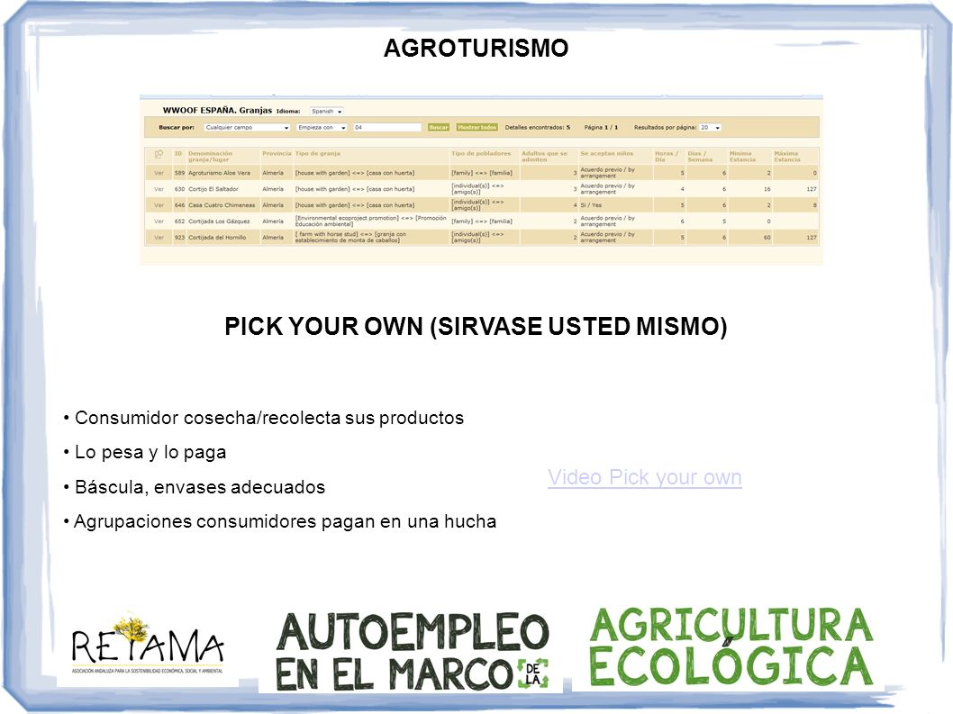 PICK YOUR OWN (SIRVASE USTED MISMO)