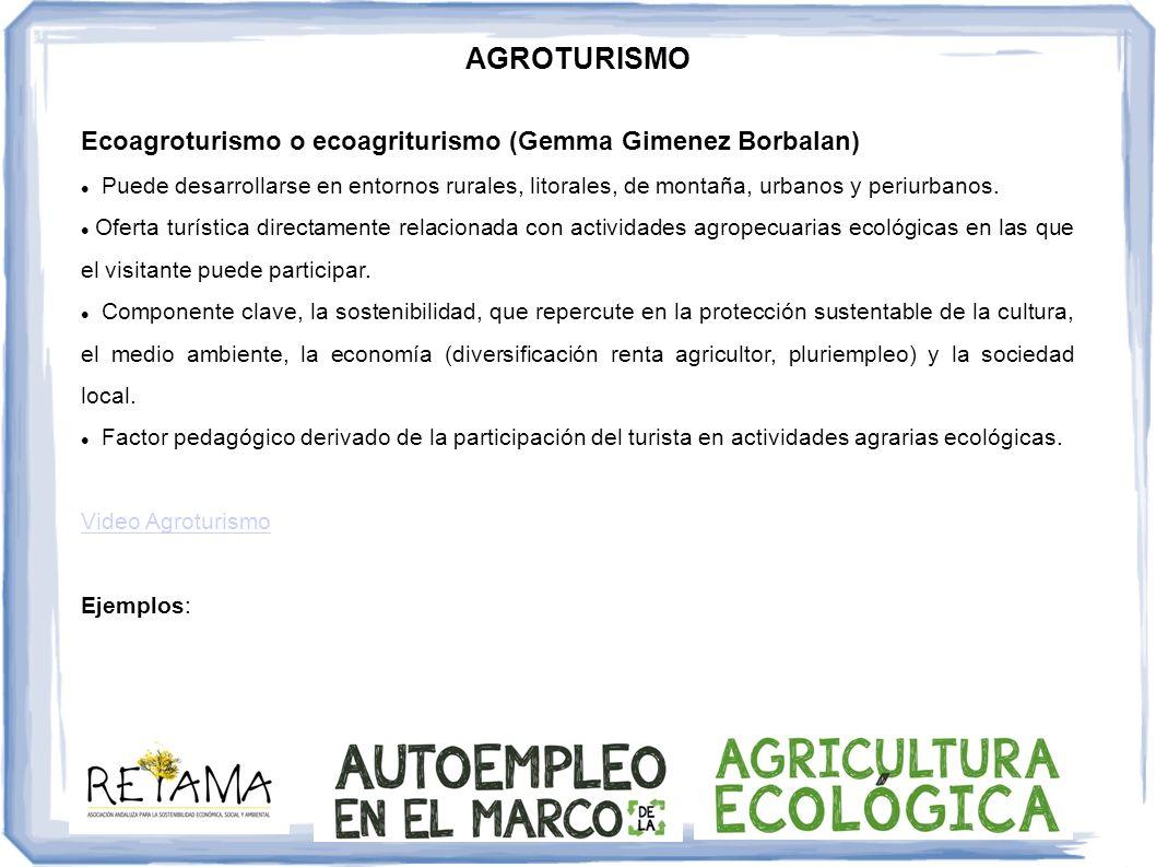 AGROTURISMO Ecoagroturismo o ecoagriturismo (Gemma Gimenez Borbalan)