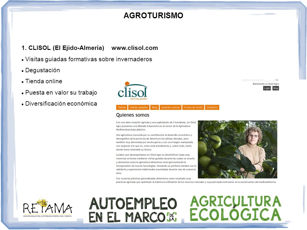 AGROTURISMO 1. CLISOL (El Ejido-Almería) www.clisol.com