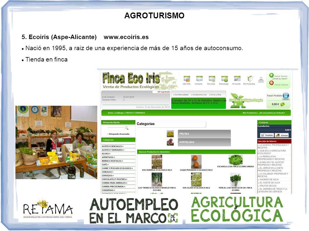 AGROTURISMO 5. Ecoiris (Aspe-Alicante) www.ecoiris.es