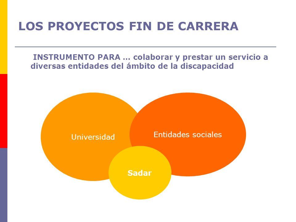 LOS PROYECTOS FIN DE CARRERA